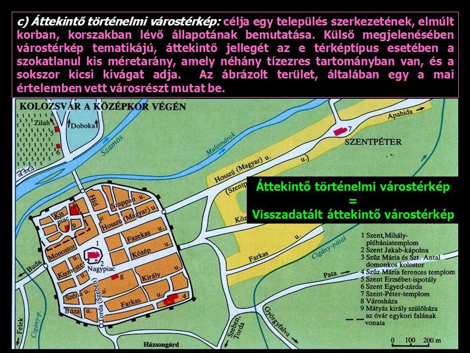 Áttekintő történelmi várostérkép Visszadatált áttekintő várostérkép