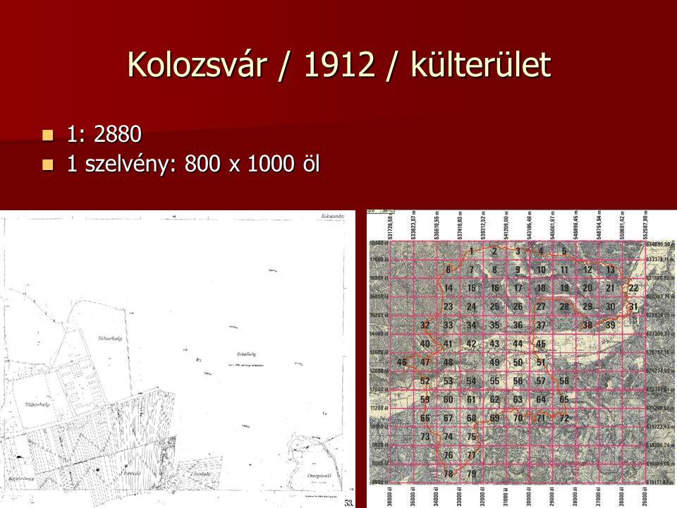 Kolozsvár / 1912 / külterület
