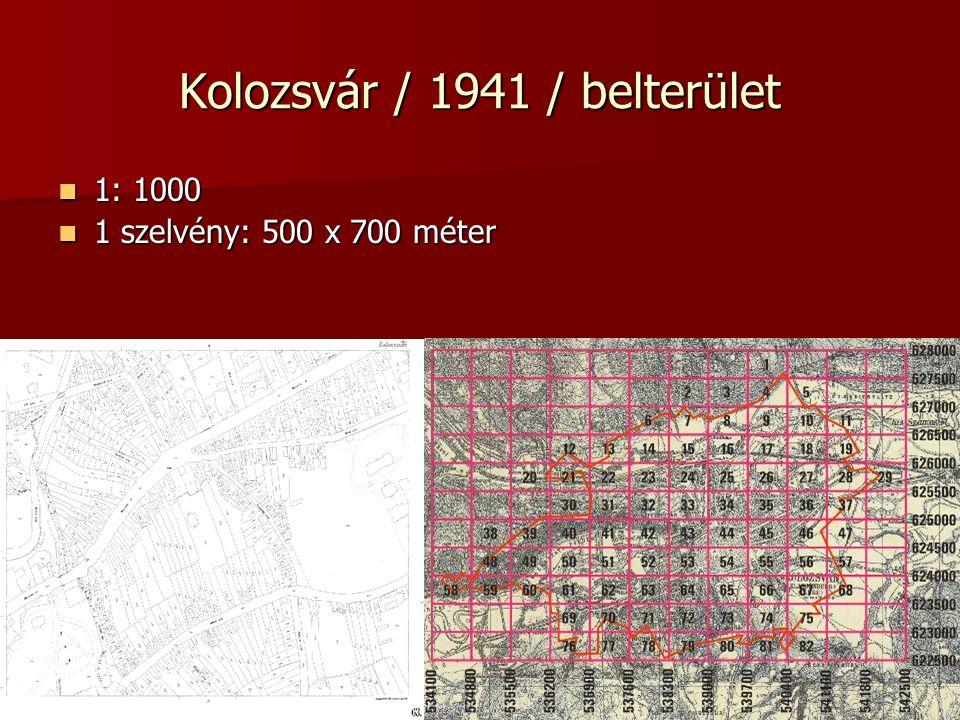 Kolozsvár / 1941 / belterület