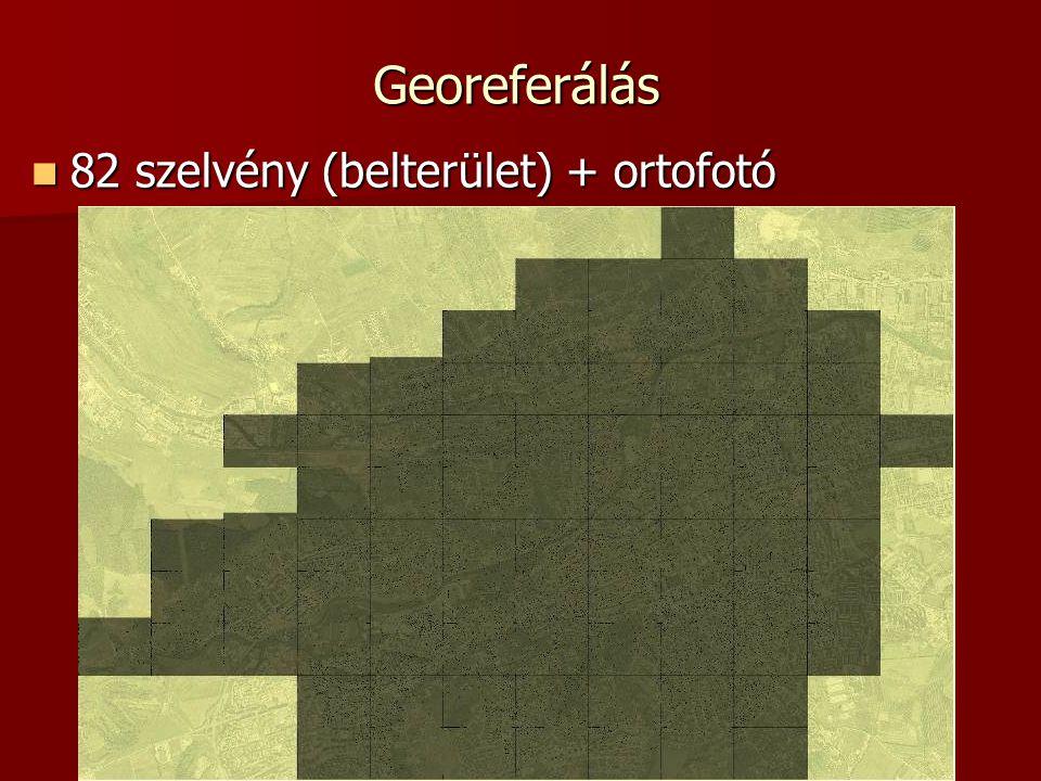 Georeferálás 82 szelvény (belterület) + ortofotó