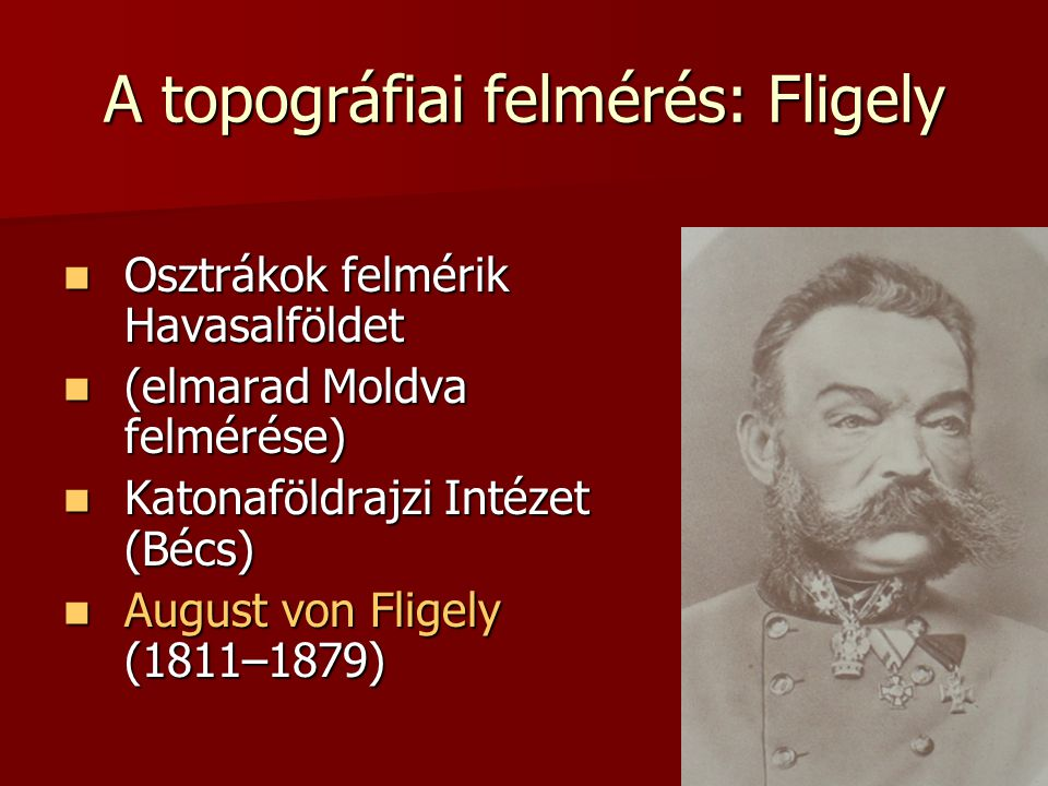 A topográfiai felmérés: Fligely