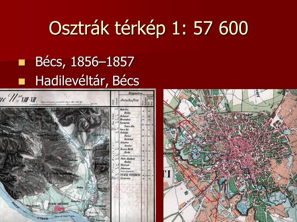 Osztrák térkép 1: 57 600 Bécs, 1856–1857 Hadilevéltár, Bécs