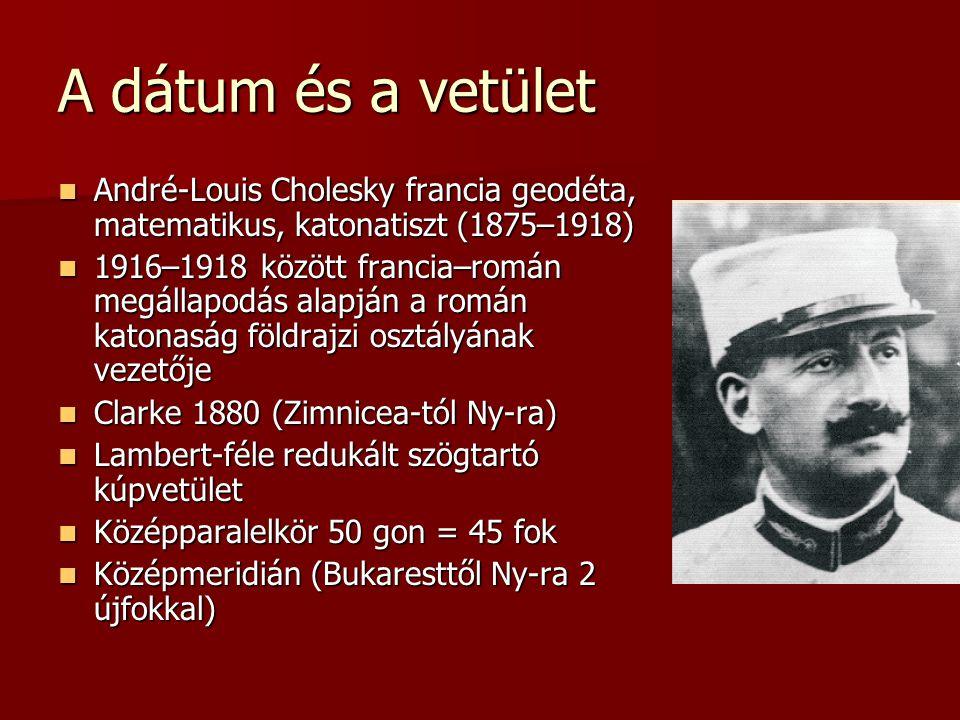 A dátum és a vetület André-Louis Cholesky francia geodéta, matematikus, katonatiszt (1875–1918)