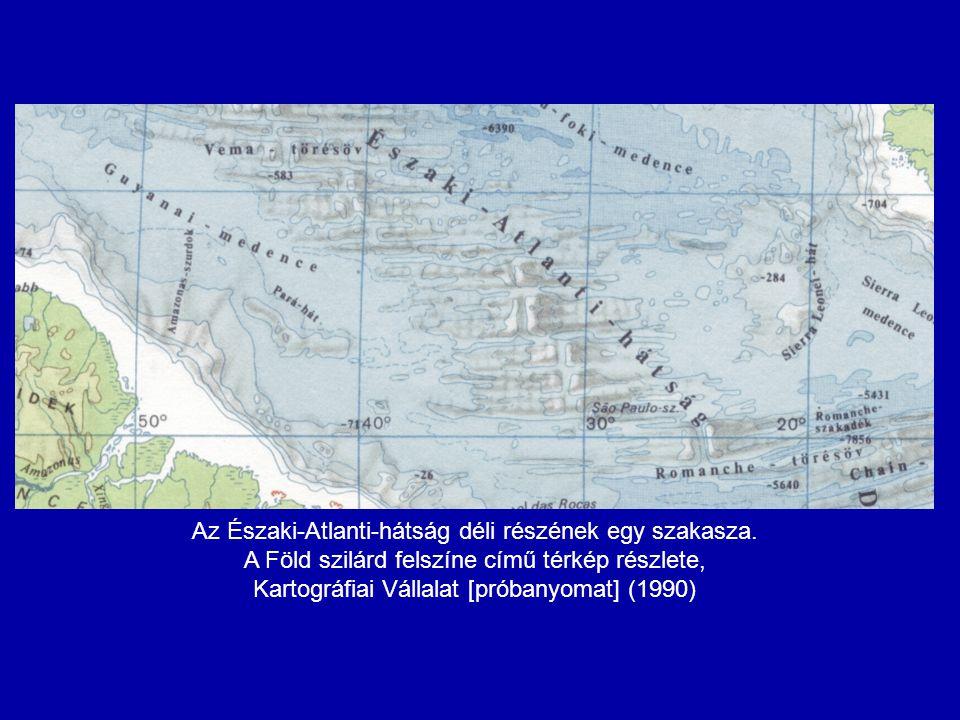 Az Északi-Atlanti-hátság déli részének egy szakasza.