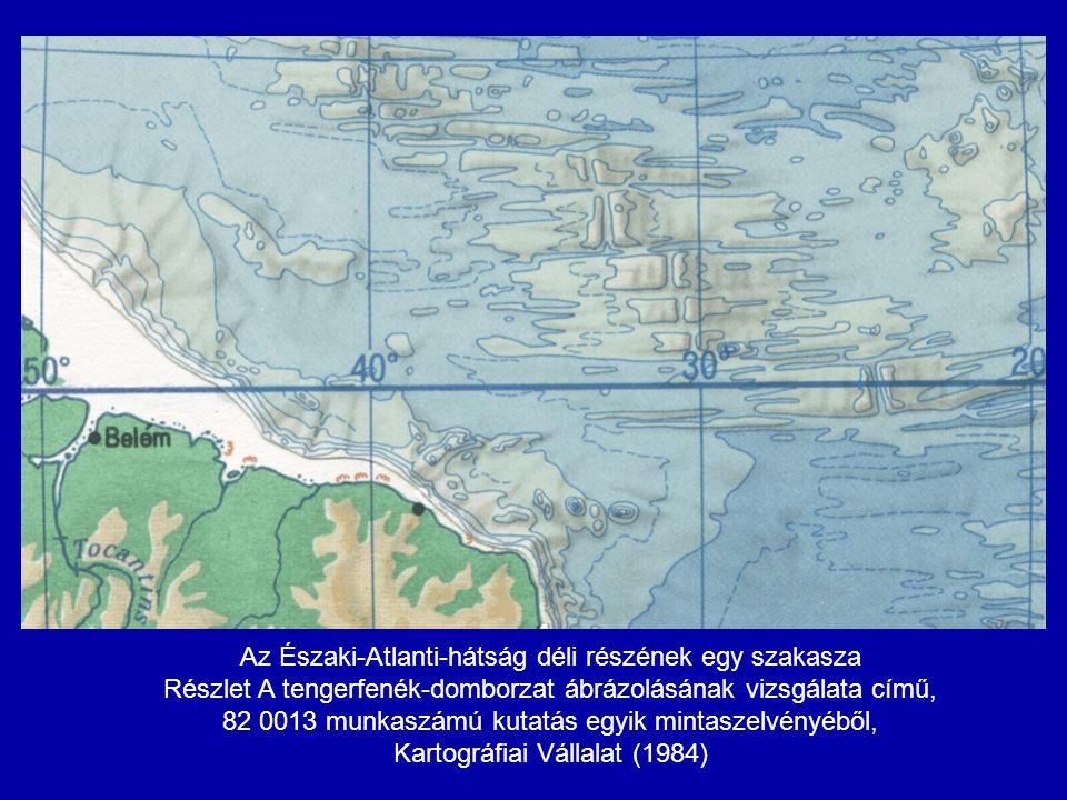 Az Északi-Atlanti-hátság déli részének egy szakasza