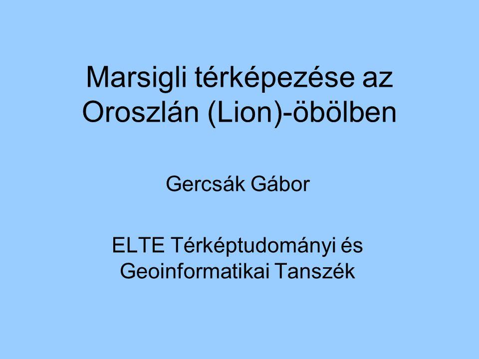 Marsigli térképezése az Oroszlán (Lion)-öbölben