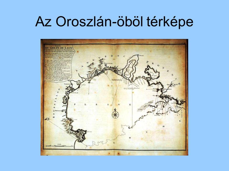 Az Oroszlán-öböl térképe