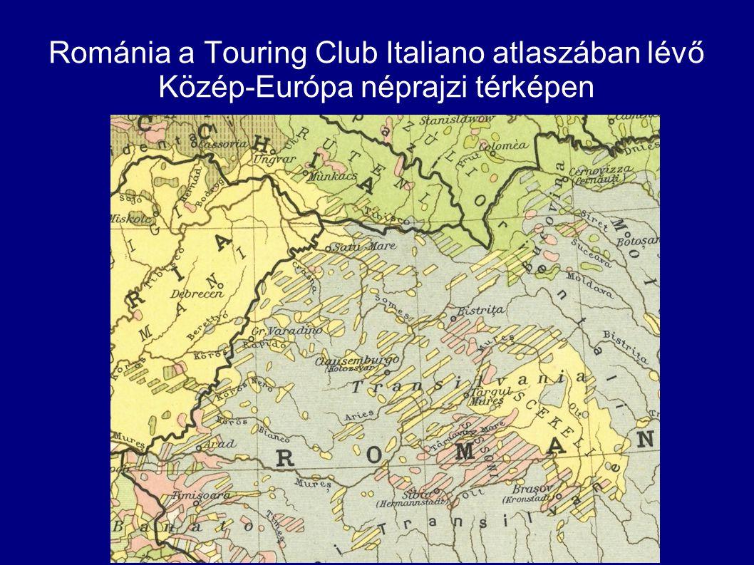 Románia a Touring Club Italiano atlaszában lévő Közép-Európa néprajzi térképen