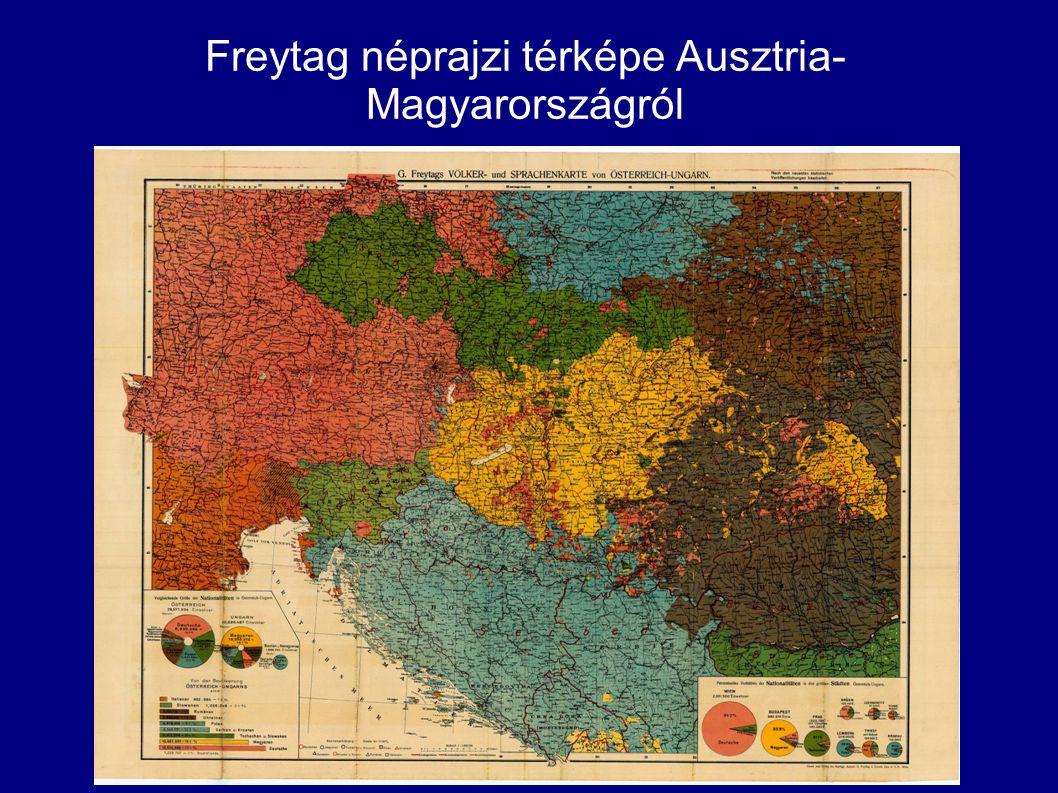 Freytag néprajzi térképe Ausztria-Magyarországról