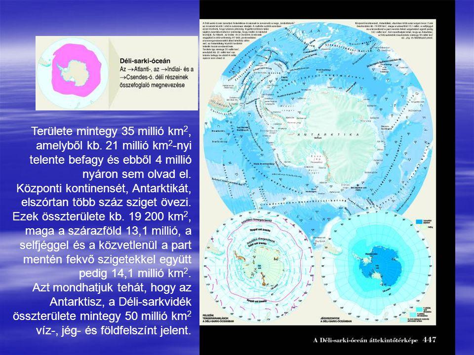 Területe mintegy 35 millió km2,