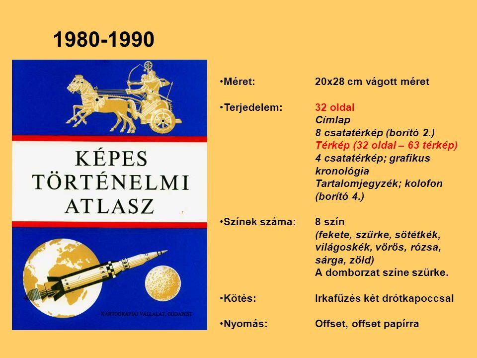 1980-1990 Méret: 20x28 cm vágott méret Terjedelem: 32 oldal Címlap