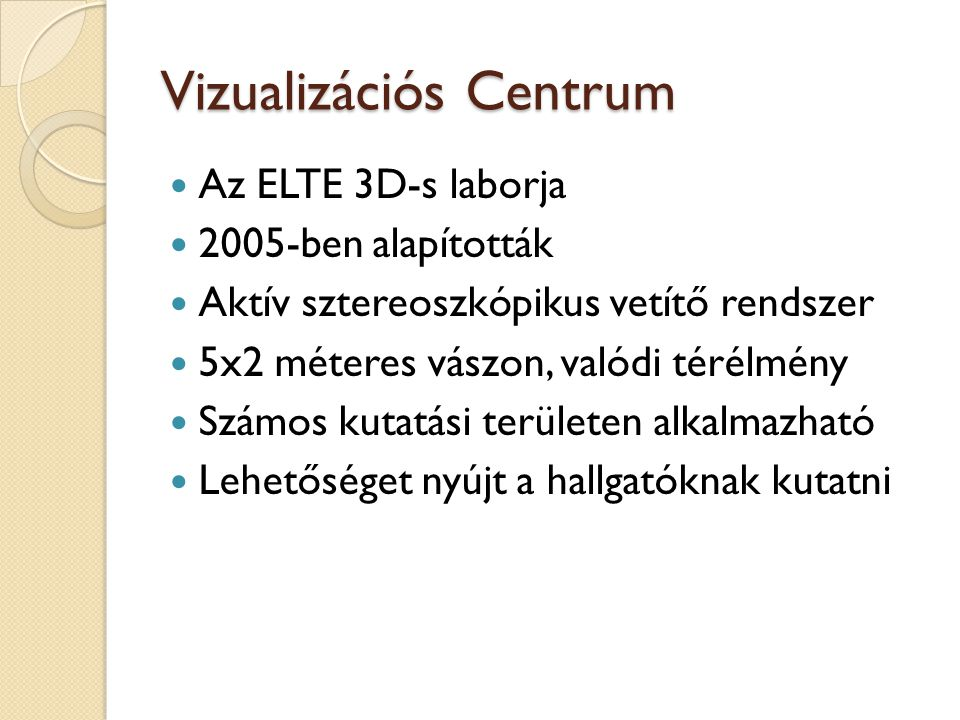 Vizualizációs Centrum