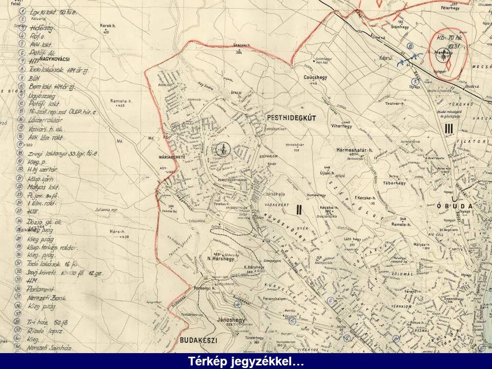 Térkép jegyzékkel…