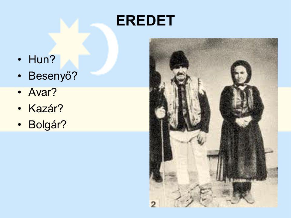 EREDET Hun Besenyő Avar Kazár Bolgár
