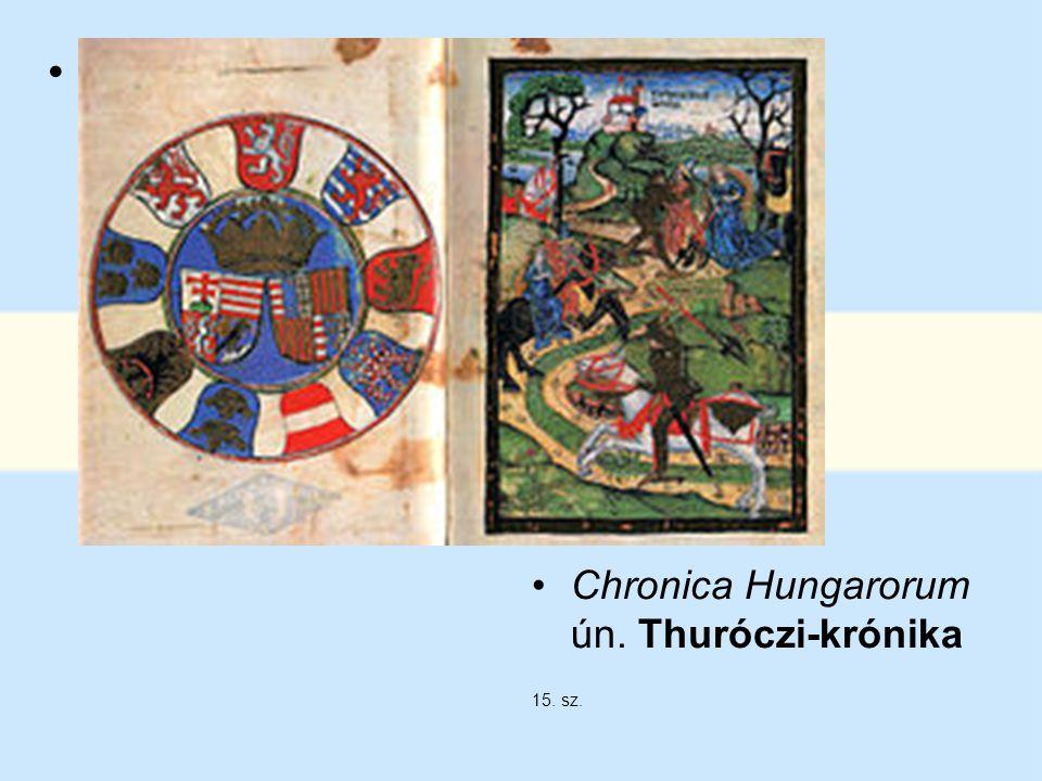 Thuróczi János megerősíti a szájhagyományt, s a székelyek sajátjának véli a rovásírást. Chronica Hungarorum ún. Thuróczi-krónika.