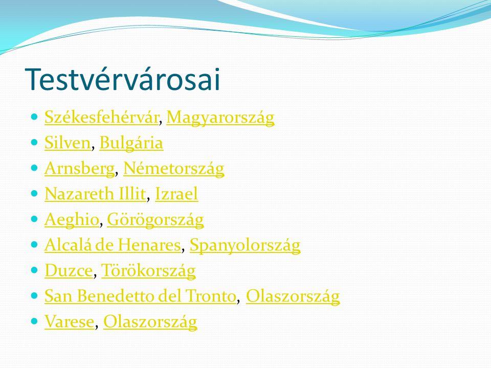 Testvérvárosai Székesfehérvár, Magyarország Silven, Bulgária