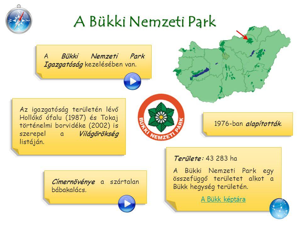 A Bükki Nemzeti Park A Bükki Nemzeti Park Igazgatóság kezelésében van.