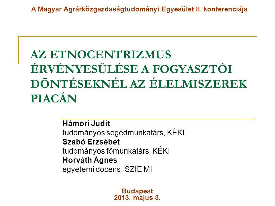 A Magyar Agrárközgazdaságtudományi Egyesület II. konferenciája