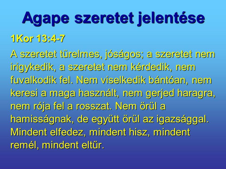 Agape szeretet jelentése