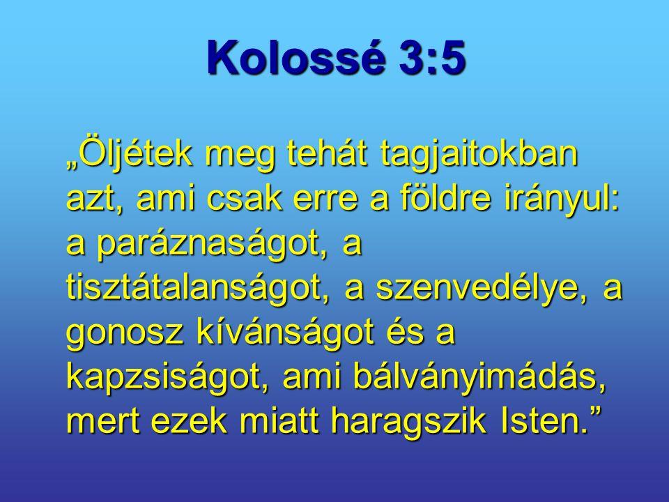 Kolossé 3:5