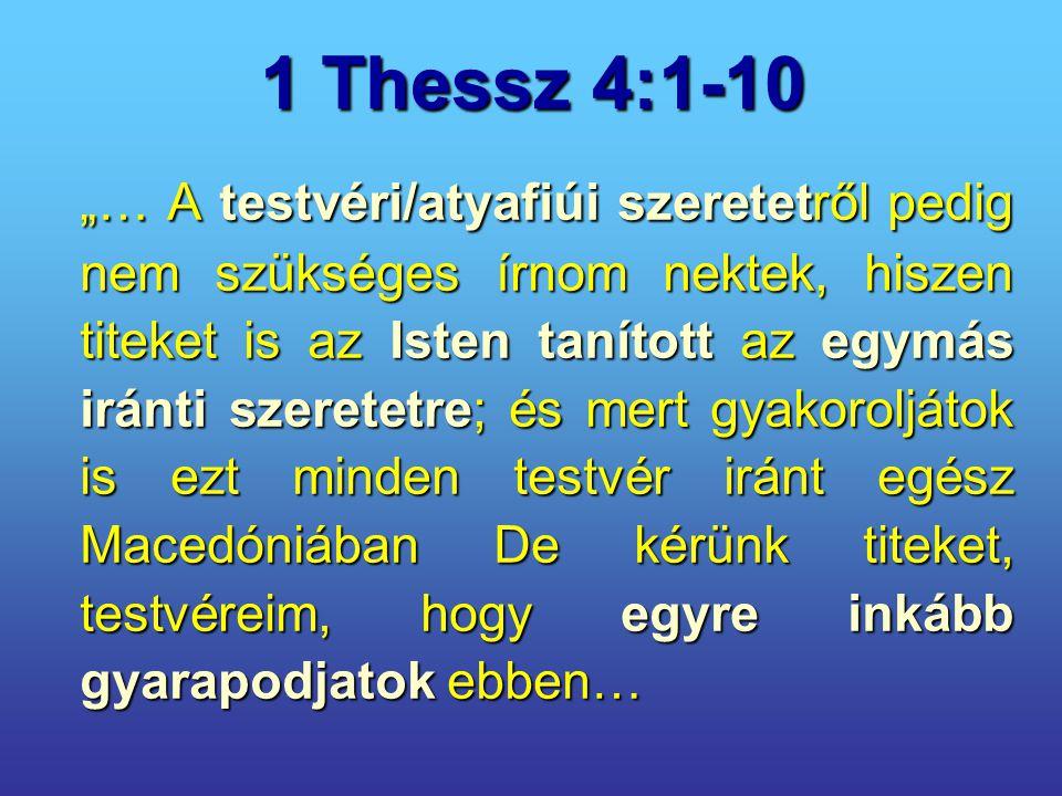 1 Thessz 4:1-10