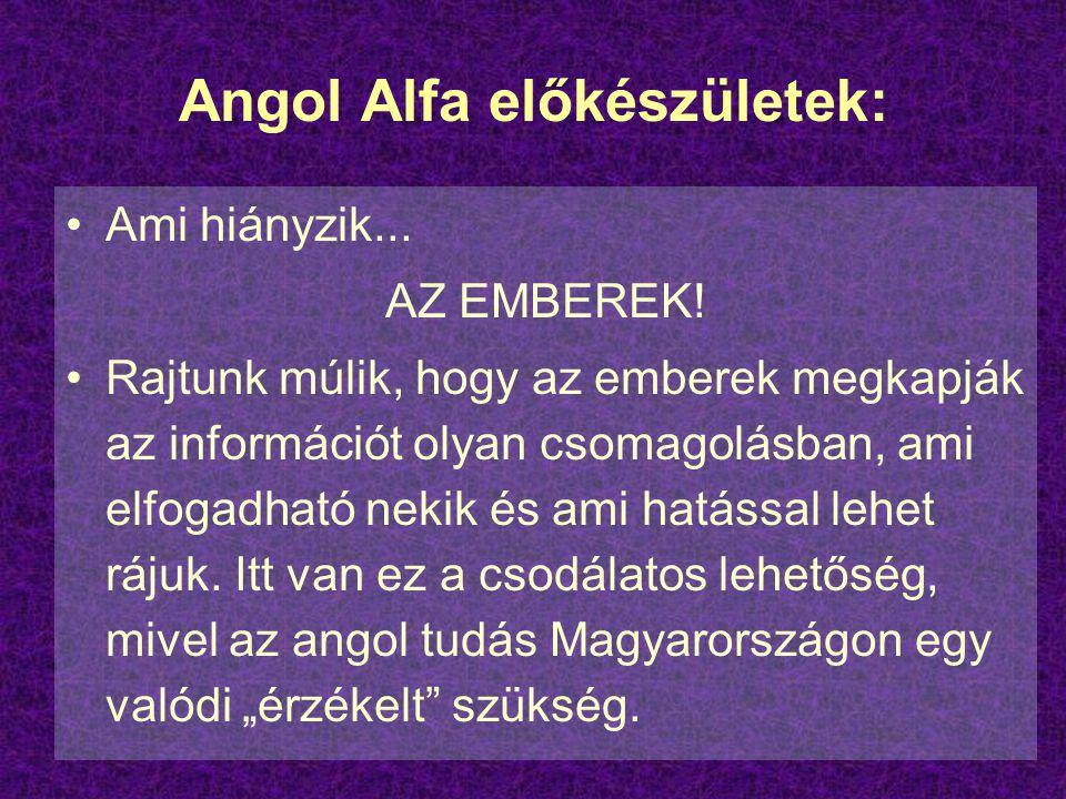 Angol Alfa előkészületek:
