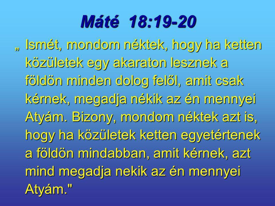 Máté 18:19-20