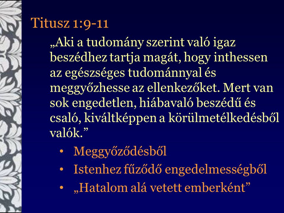 Titusz 1:9-11