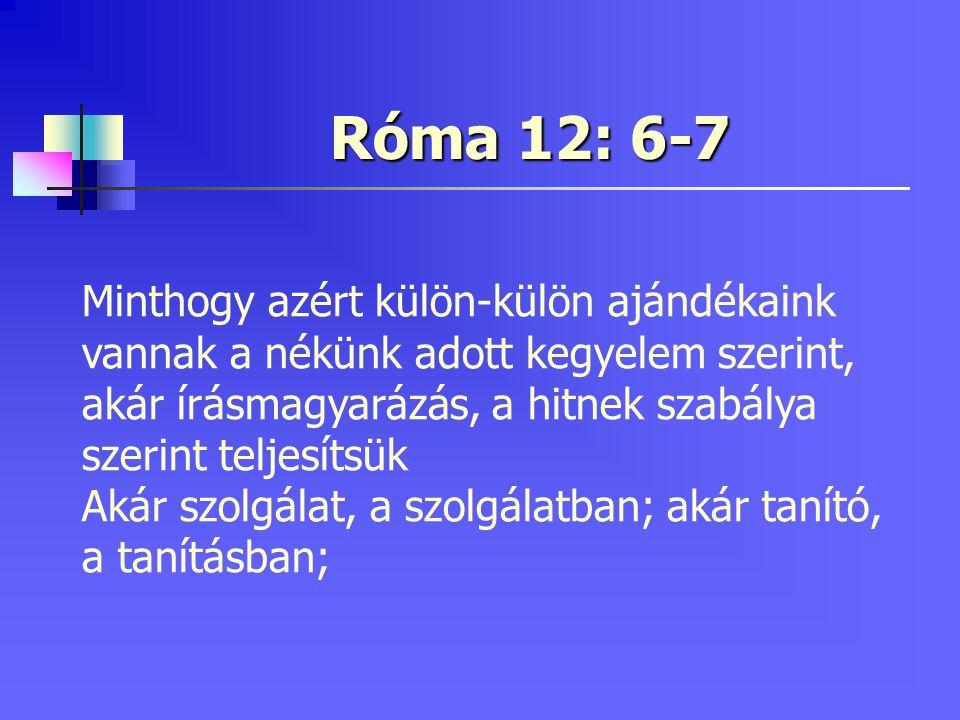 Róma 12: 6-7