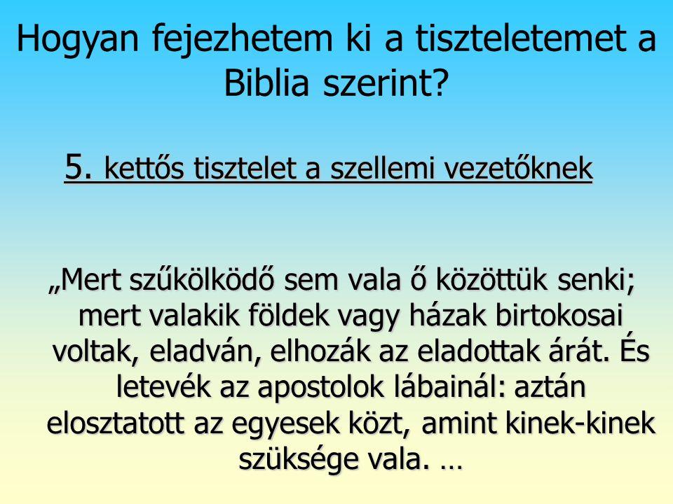 Hogyan fejezhetem ki a tiszteletemet a Biblia szerint