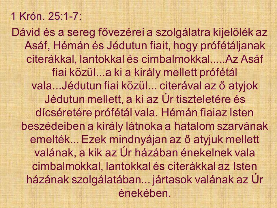 1 Krón. 25:1-7:
