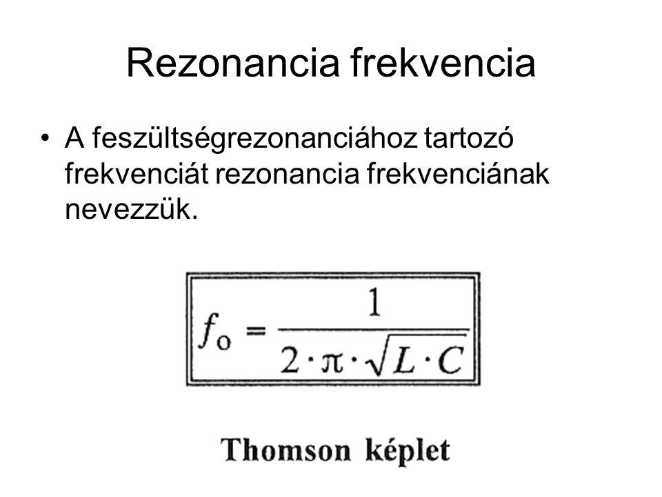Rezonancia frekvencia