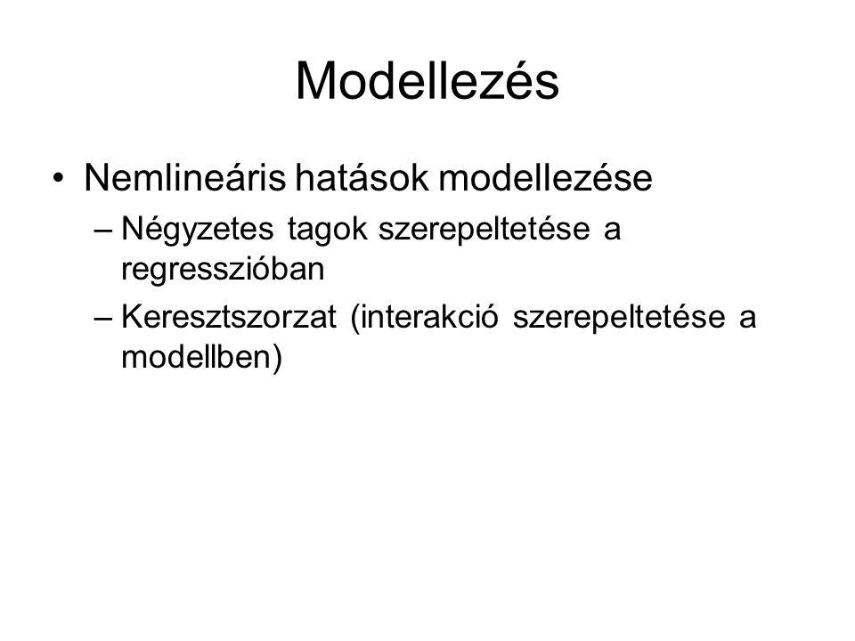 Modellezés Nemlineáris hatások modellezése