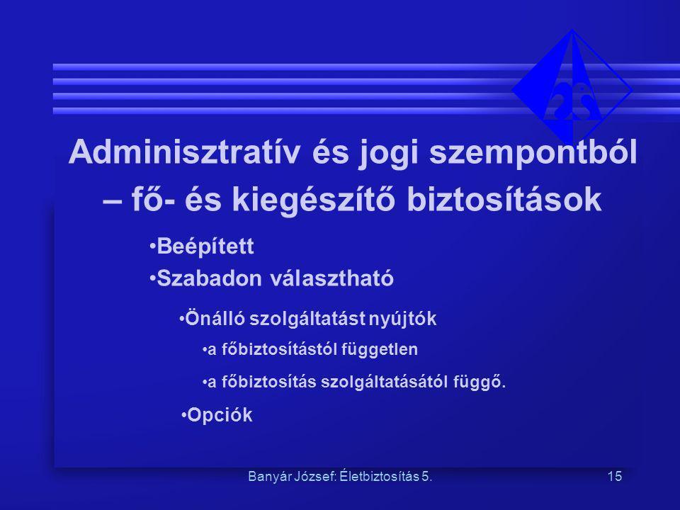 Adminisztratív és jogi szempontból Önálló szolgáltatást nyújtók