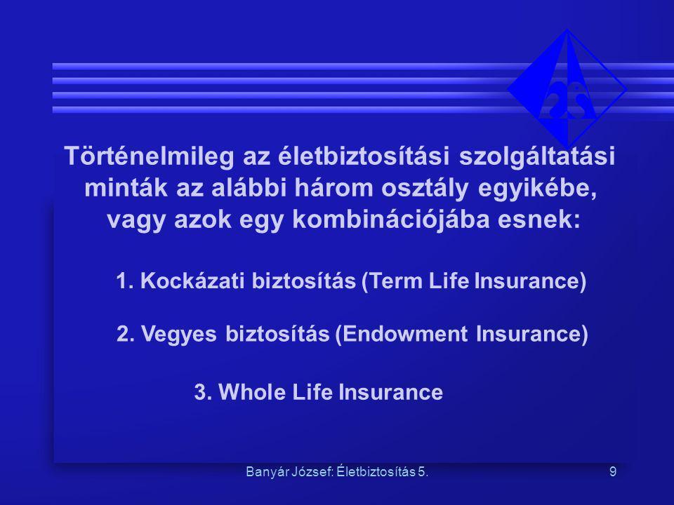 Történelmileg az életbiztosítási szolgáltatási