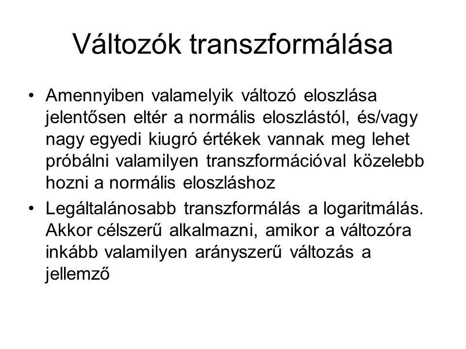 Változók transzformálása