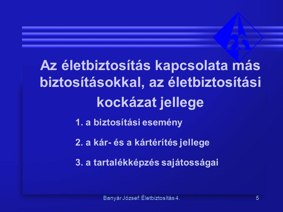 Banyár József: Életbiztosítás 4.