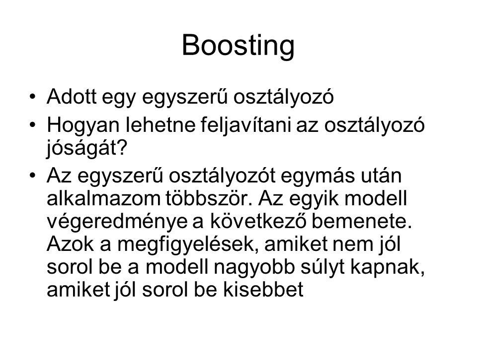 Boosting Adott egy egyszerű osztályozó
