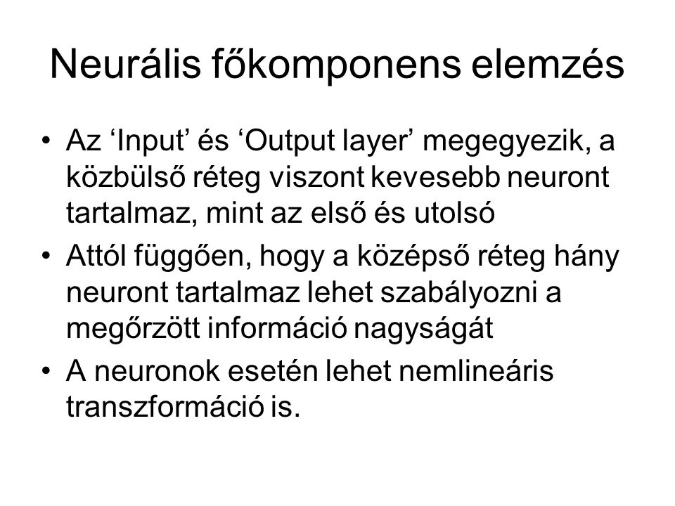 Neurális főkomponens elemzés