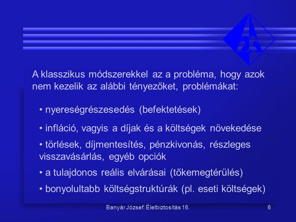 Banyár József: Életbiztosítás 16.