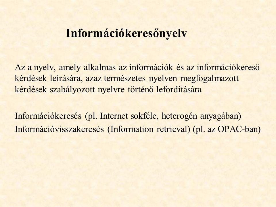 Információkeresőnyelv
