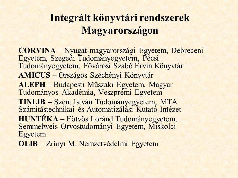 Integrált könyvtári rendszerek Magyarországon