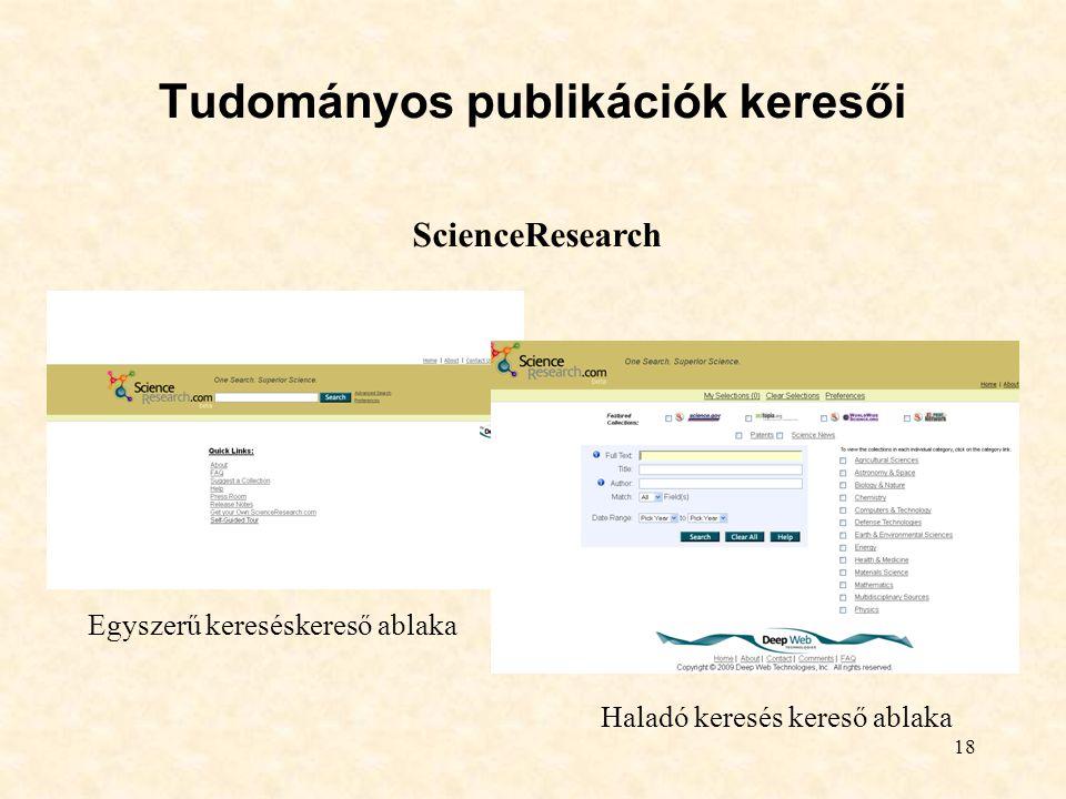 Tudományos publikációk keresői