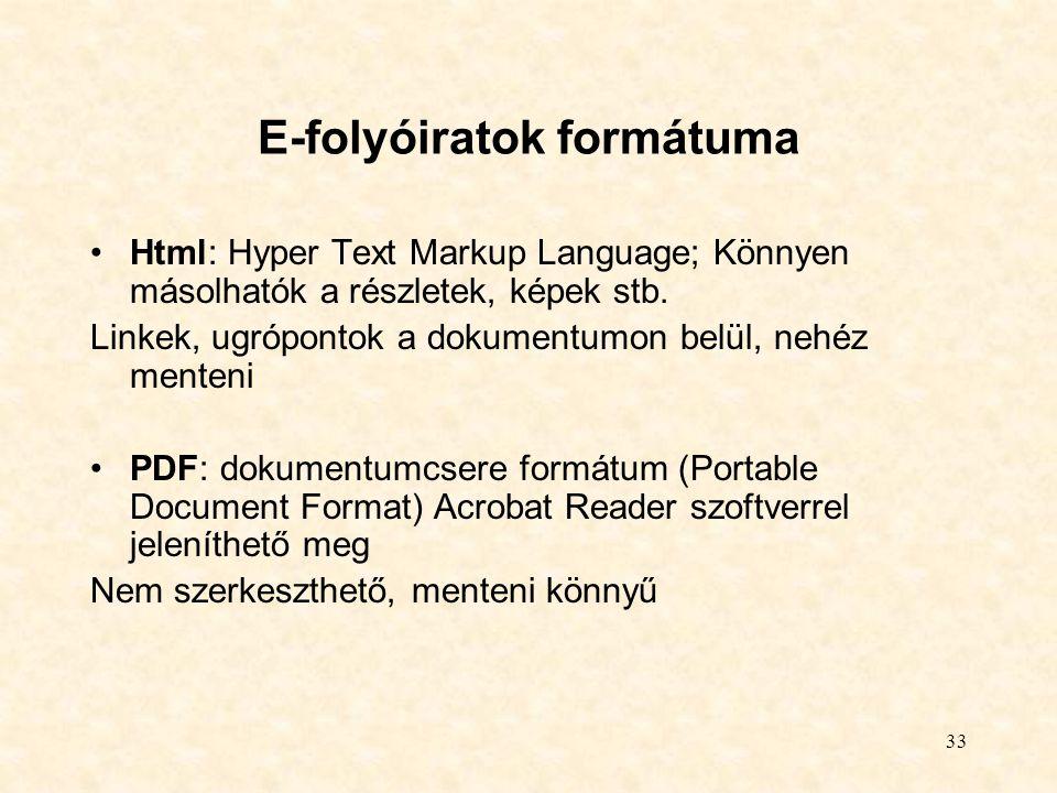 E-folyóiratok formátuma
