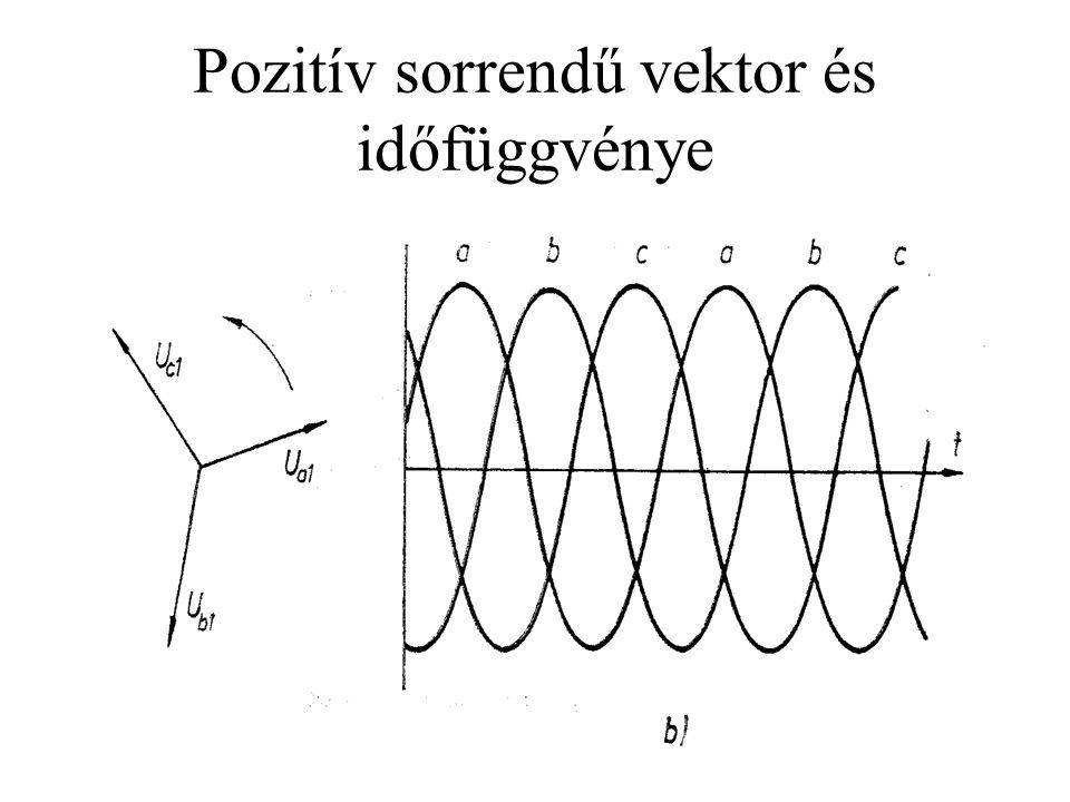 Pozitív sorrendű vektor és időfüggvénye