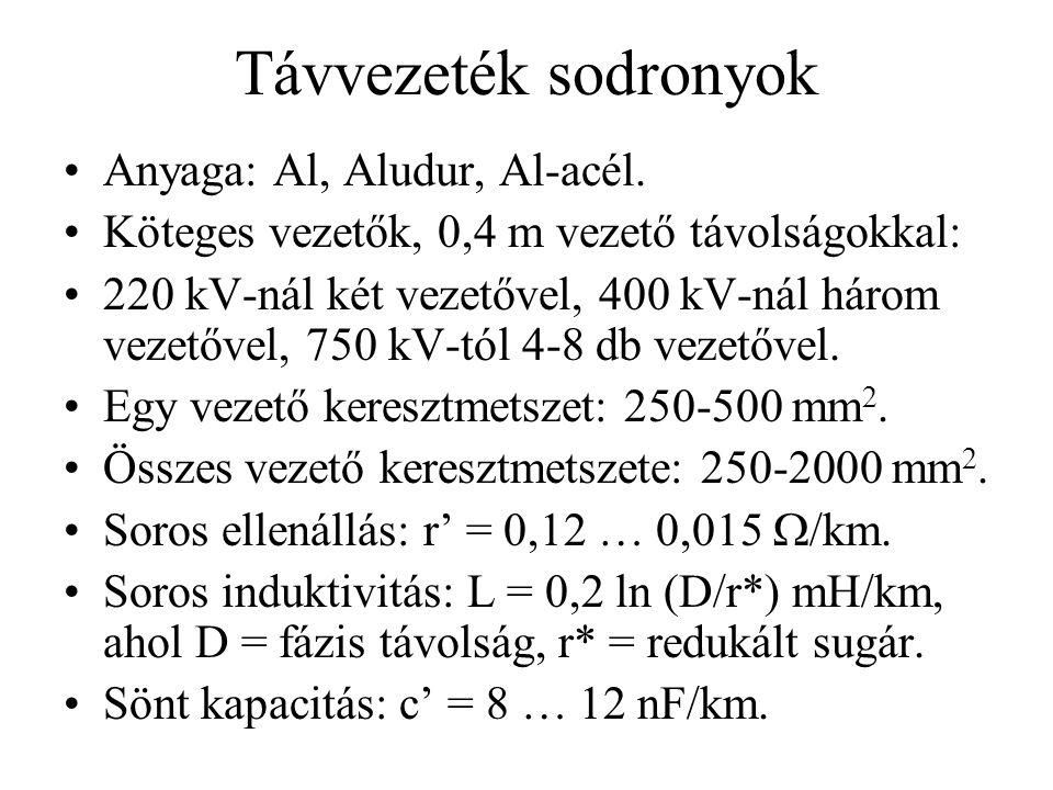 Távvezeték sodronyok Anyaga: Al, Aludur, Al-acél.