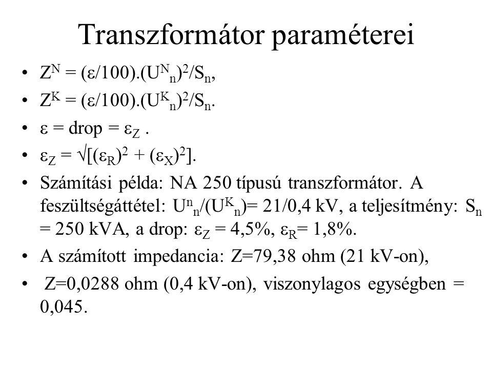 Transzformátor paraméterei