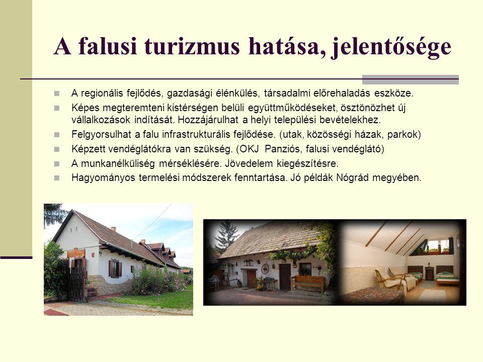 A falusi turizmus hatása, jelentősége