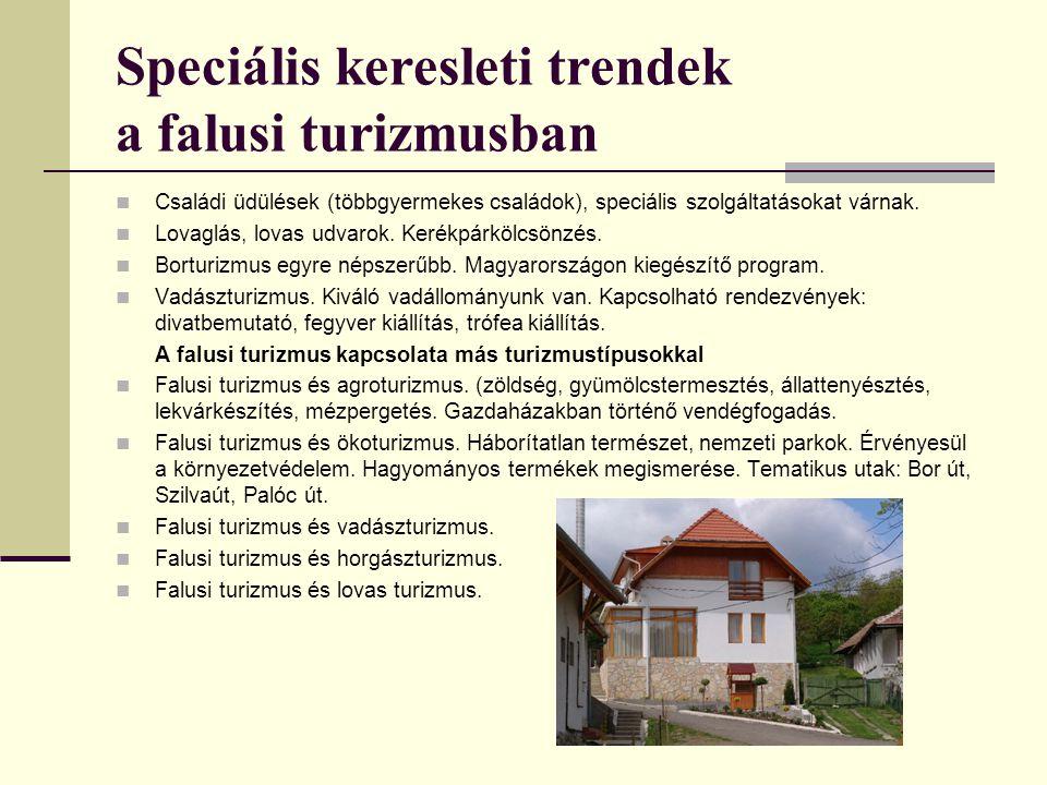 Speciális keresleti trendek a falusi turizmusban