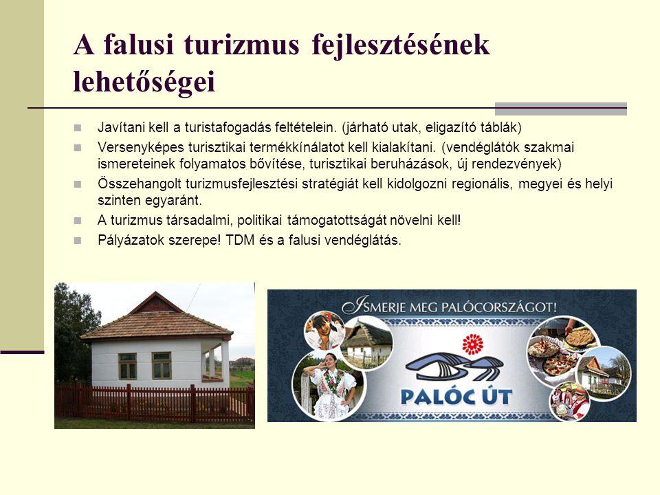 A falusi turizmus fejlesztésének lehetőségei